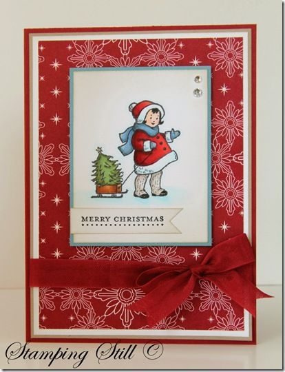 """Stampin' Up! - Greeting Card Kids--I """"love"""" this sweet little stamp!!!   :-)"""