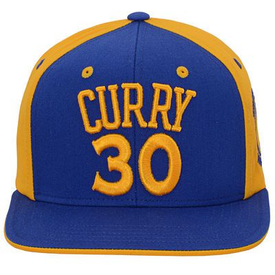 Youth Golden State Warriors Stephen Curry adidas Royal/Gold 2-Tone Snapback Adjustable Hat