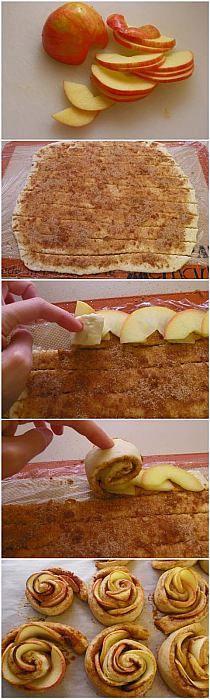 Apple cinnamon roll-ups