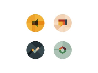 Dribbble - Conference Glyphs by Charlie Isslander