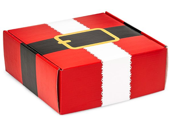 """Gourmet Shipping Boxes 1-piece boxes have a fold-over lid. Perfect for gourmet gift packaging! Outer dimensions are: 8-3/4 x 8-1/4 x 3-1/4""""."""