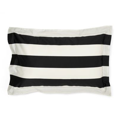 Wide Stripe Creme and Black Tailored pillowcase