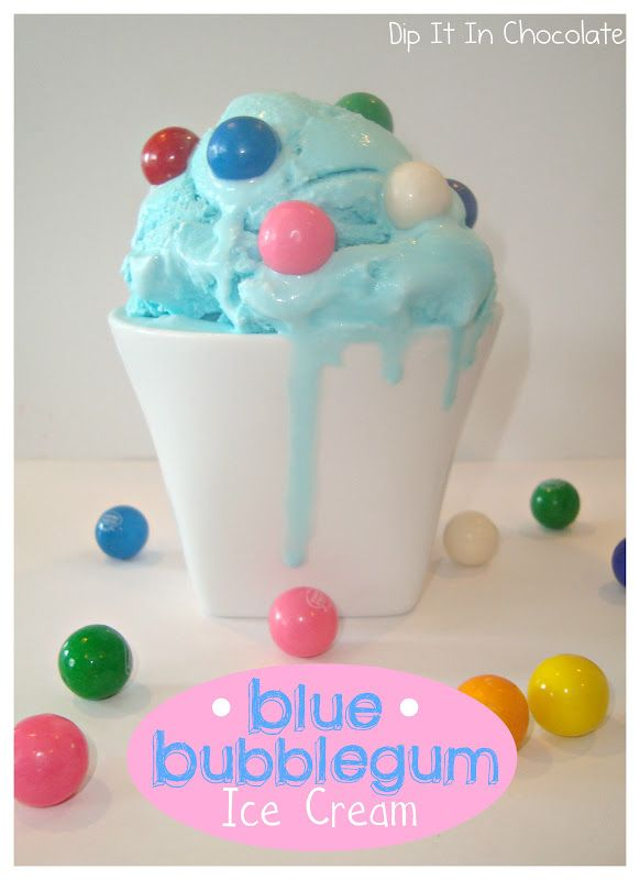 YES!  FINALLY!!  A recipe for BLUE BUBBLEGUM ICE CREAM (with no gum in it)!!  Just like we used to get after school at the Maid O'Clover =)