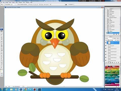 Illustrating drawing painting - cartoon Owl Jak namalować sowę