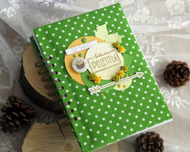 Кулинарная книга на пружине с макетом страниц