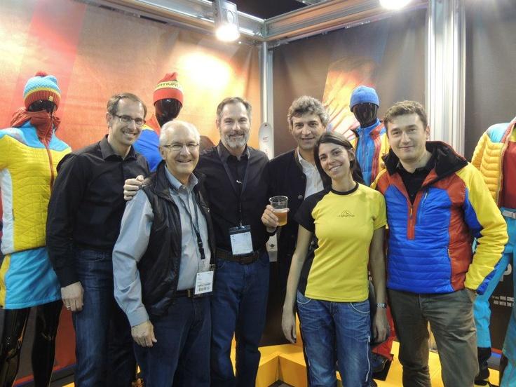 La Sportiva Team together with the Primaloft Team