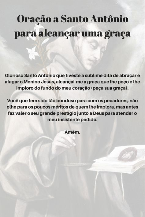 Oração a Santo Antônio para alcançar uma graça