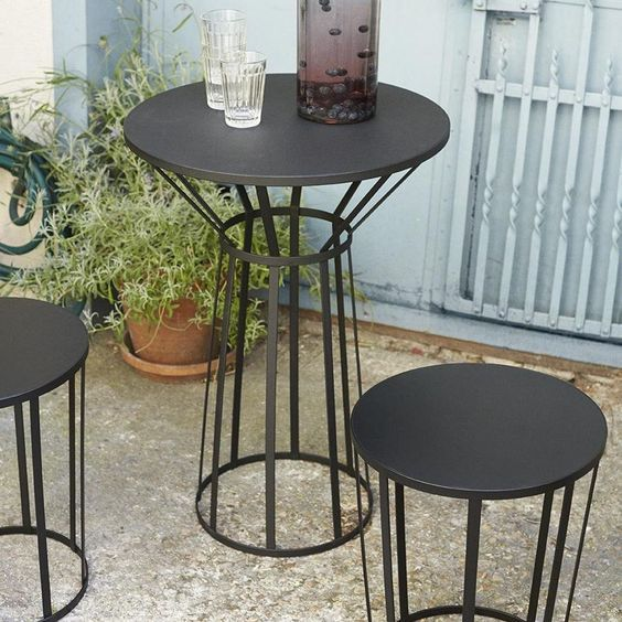 Bistro table outdoor HOLLO - Free delivery - Petite Friture ...