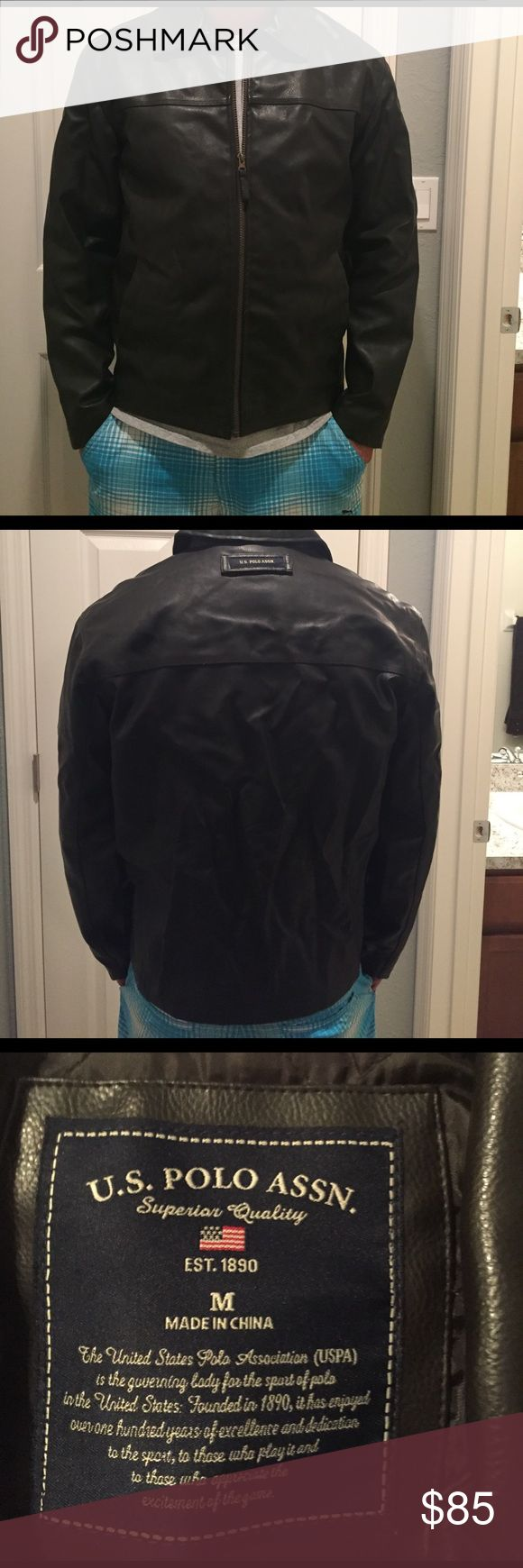 ⚡️SALE⚡️US Polo leather jacket (M) US Polo Assn. men's leather jacket. It's too warm in Florida for this . U.S. Polo Assn. Jackets & Coats