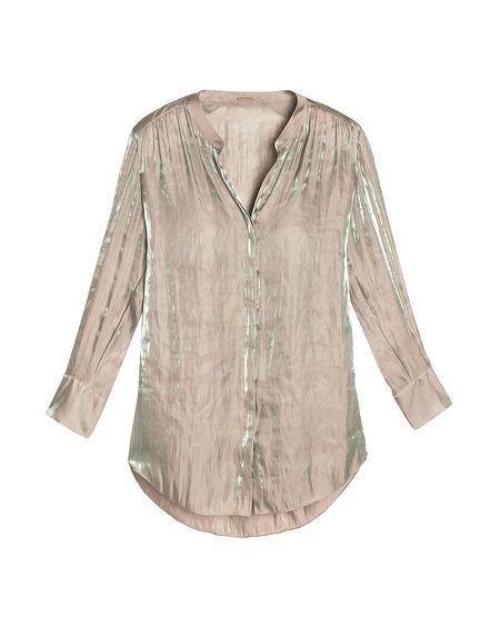 Black Label Iridescent Button-Up Blouse