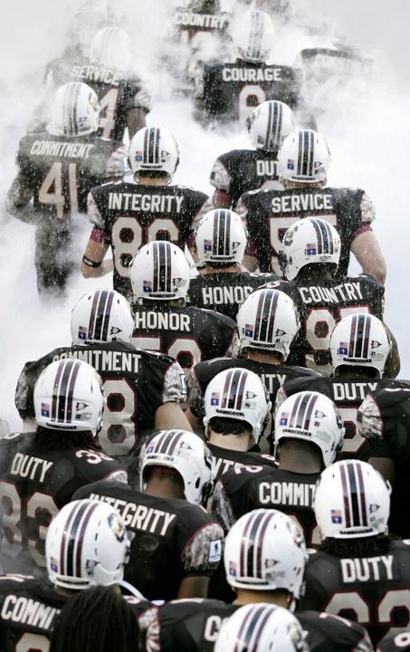 i loved these jerseys with the different honor words on the back...wish I could get one these now  #gamecocks