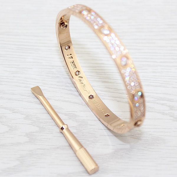 Cartier Love Bracelet Pink Gold Diamond Paved. Welcome to our Cartier online store http://www.ourlovestore.com , we believe our products will make you satisfied!