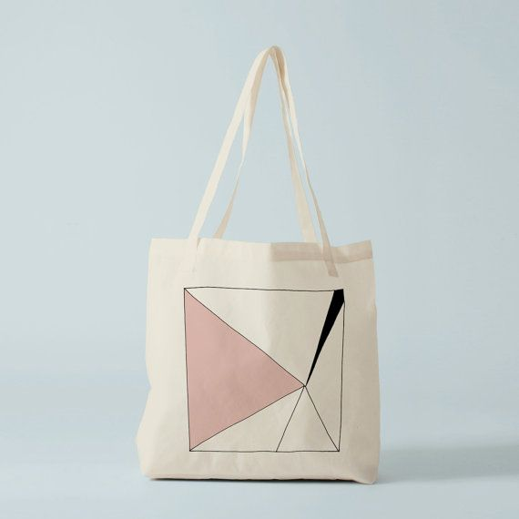 Pink Triangle Tote bag. Cotton bag sports bag by BambouchicParis