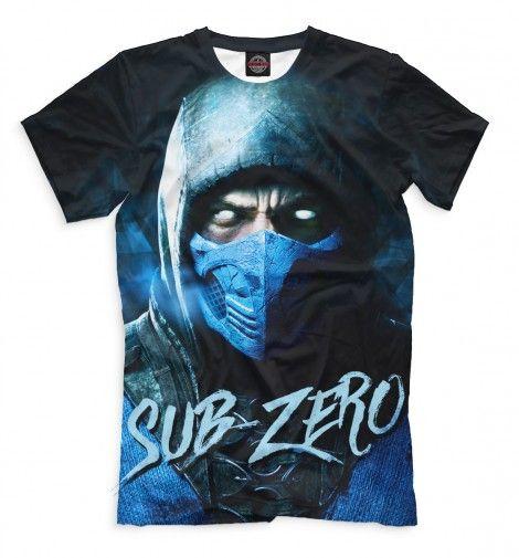 Sub-Zero Mortal Kombat T-Shirt. Футболки с принтом высокого качества. Персонажи игр, мультфильмов, кино и сериалов. Доставка по всей России и за границу.