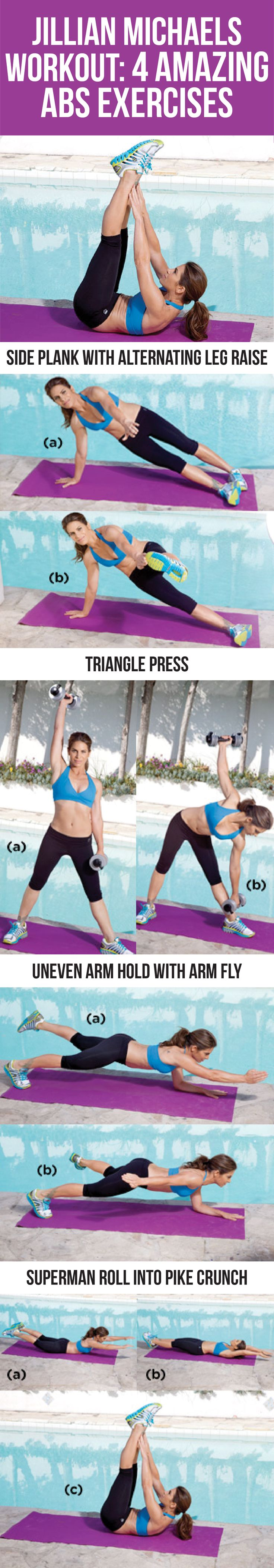Jillian Michaels Workout: 4 Amazing Abs Exercises