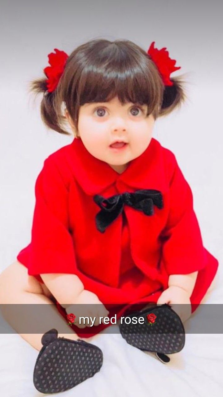 Cute Baby With Rose : Photos,, Pictures,, Wallpaper