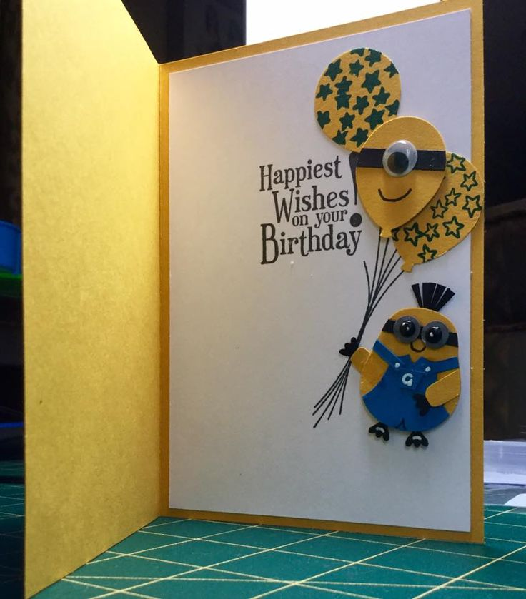inside of the minion card  minion card happy wishes cards