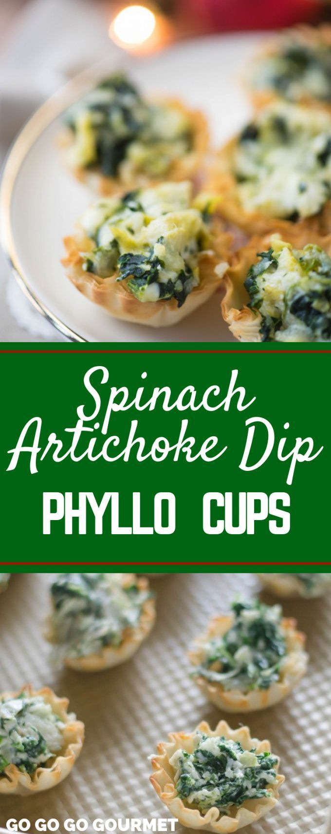 These easy Baked Spinach Artichoke Dip Cup Bites are the perfect party appetizer…