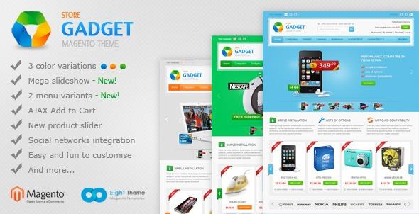Gadget Magento Theme - ThemeForest Item for Sale