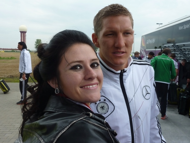 Together with Bastian Schweinsteiger. He was very kind!