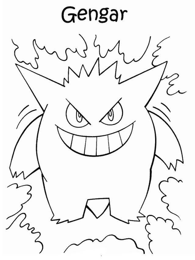 Disegni da colorare per bambini. Colorare e stampa Pokemon 38