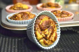 Peanut butter chocolate swirl protein muffins
