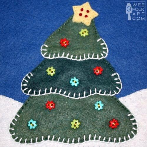 Christmas Corner - Christmas Tree Applique Block | Wee Folk Art