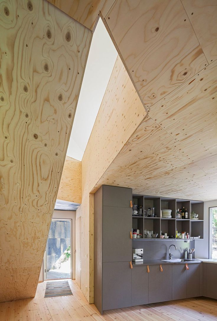 Artwork of Asymmetric and Inexpensive Prefab House In Sweden Presenting Modern Living Impression