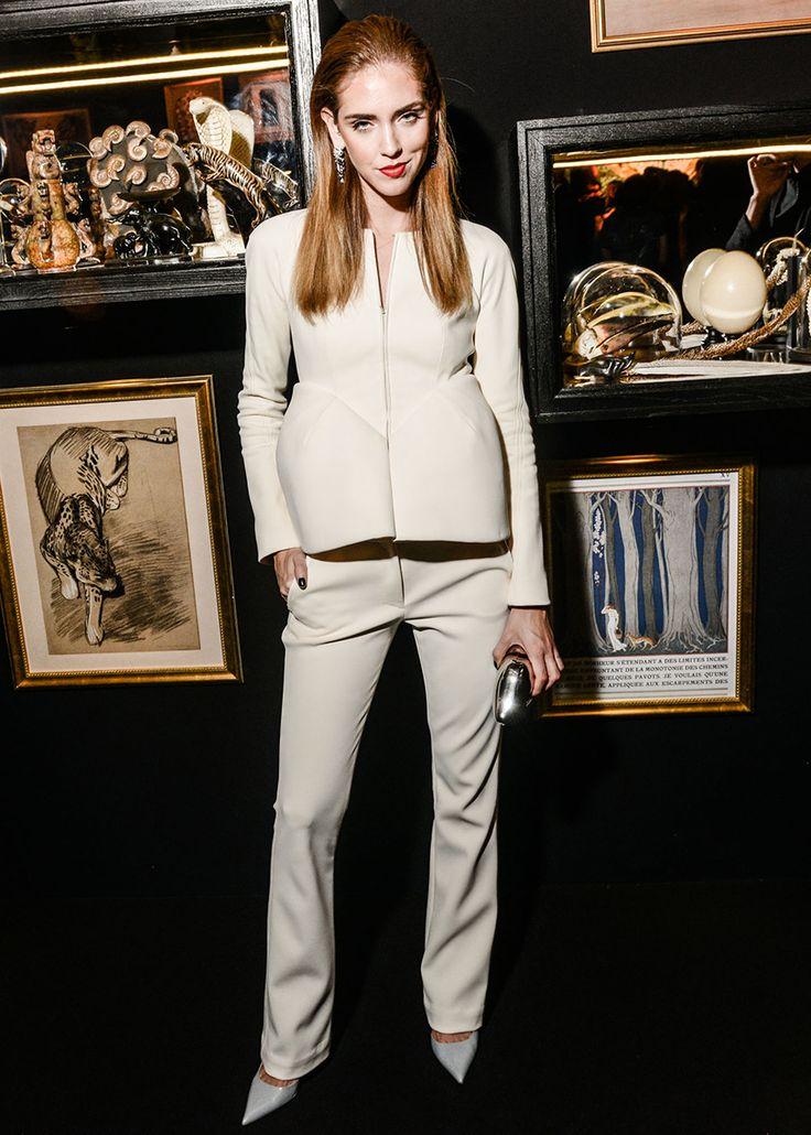 Chiara Ferragni in Zac Posen - La Panthère de Cartier 100th Anniversary Party