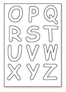 Playful image regarding printable cut out letters alphabet