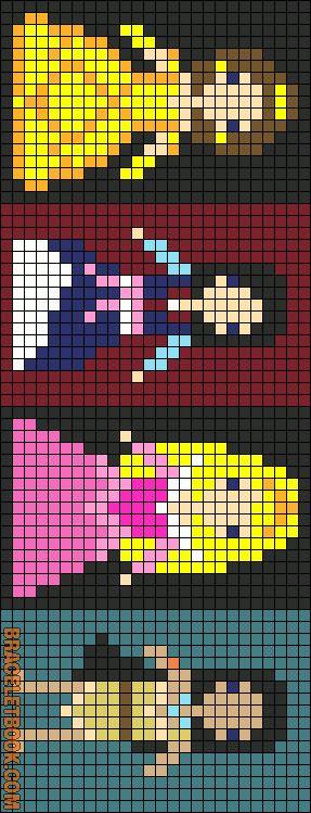 Bell, Mulan,Aurora, Pocohontas Alpha Pattern