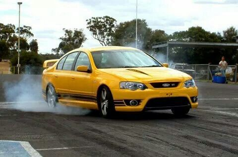 The first BF Falcon on a drag strip.
