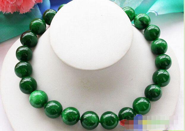 Огромный 17 18 мм природа вокруг зеленого (Тайвань Яшма) нефрита ожерелье из бисера