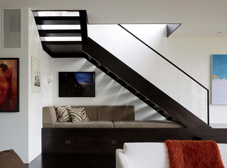 Dark Wood Staircase In A #contemporary Home In #SanFrancisco
