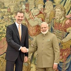 Spanish King in audience with Prime Minister of India (337810)