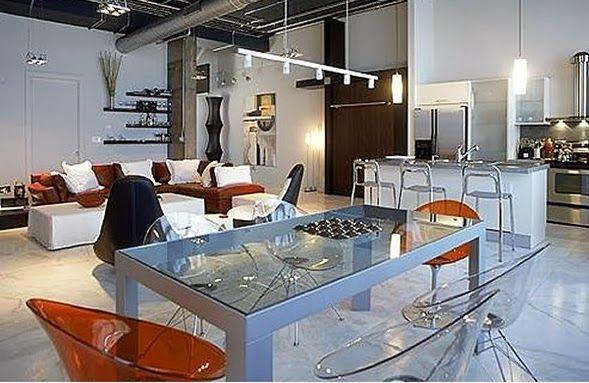 Sala, Comedor y Cocina en un Solo Ambiente. Para crear una magnifica decoración que involucra un solo ambiente destinado a realizar varias...