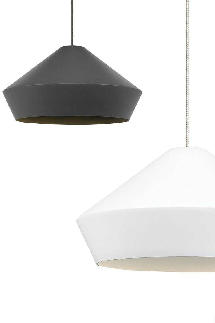 Available in Charcoal Gray or White, the modern Brummel pendant light from Tech Lighting has clean, sharp lines that harmonize with the soft, matte finish of its mid-century inspired spun metal shade.Includes a low-voltage halogen lamp or a replaceable LED module.