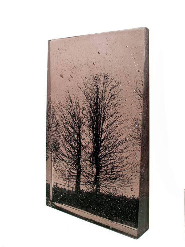 Junction Art Gallery - Helen Slater 'Roadside III' cast glass with glass drawings £1,600.00 http://www.junctionartgallery.co.uk/artists/glass/helen-slater/roadside-iii