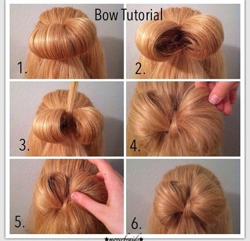 Bow Hairstyle 7 Best H A Ir&makei Images On Pinterest  Girls Hairdos Bow Braid