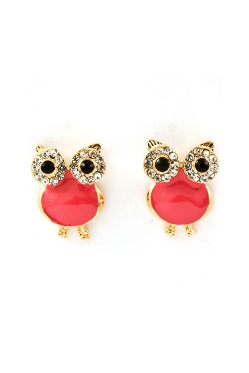 I absolutely love these owl and coral earrings