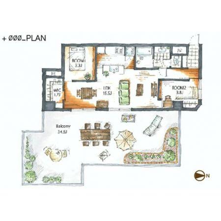 中野 ビッグバルコニーと暮らす家 --- デザイナーズ・リノベーションR-STORE