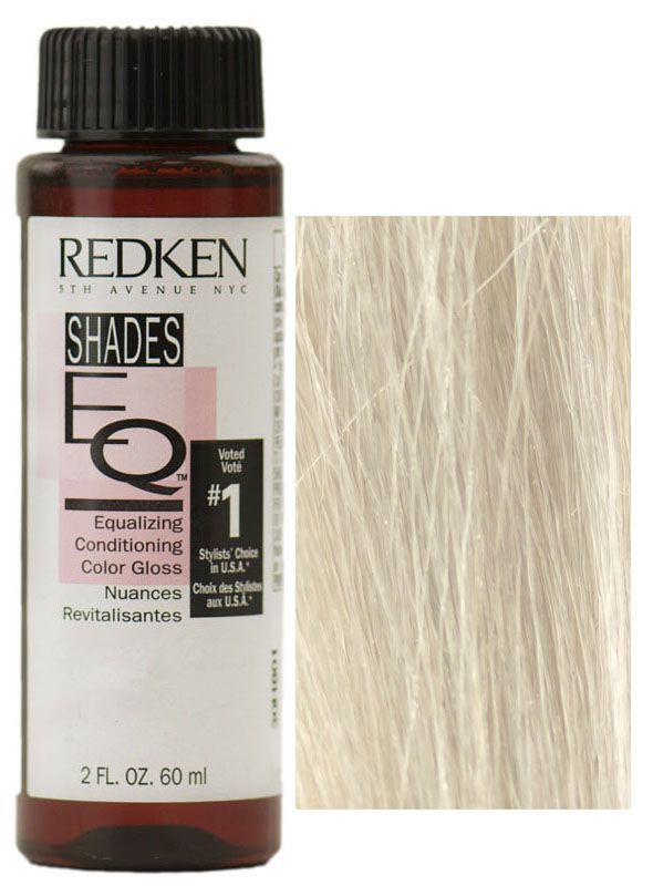 Redken Shades EQ Demi-Permanent Equalizing Haircolor Conditioning Gloss is the #1, long-lasting, no-lift, non-ammonia, demi-permanent haircolor in America. It is an easy to use system that delivers beautiful color with unsurpassed condition and shine. Shades EQ can be used in many ways including to enhance, change or increase the color intensity of natural haircolor. Directions for Shades EQ Color Gloss:SHADES EQ Color Gloss is mixed in a 1:1 ratio of Shades EQ Color Gloss to Processing…