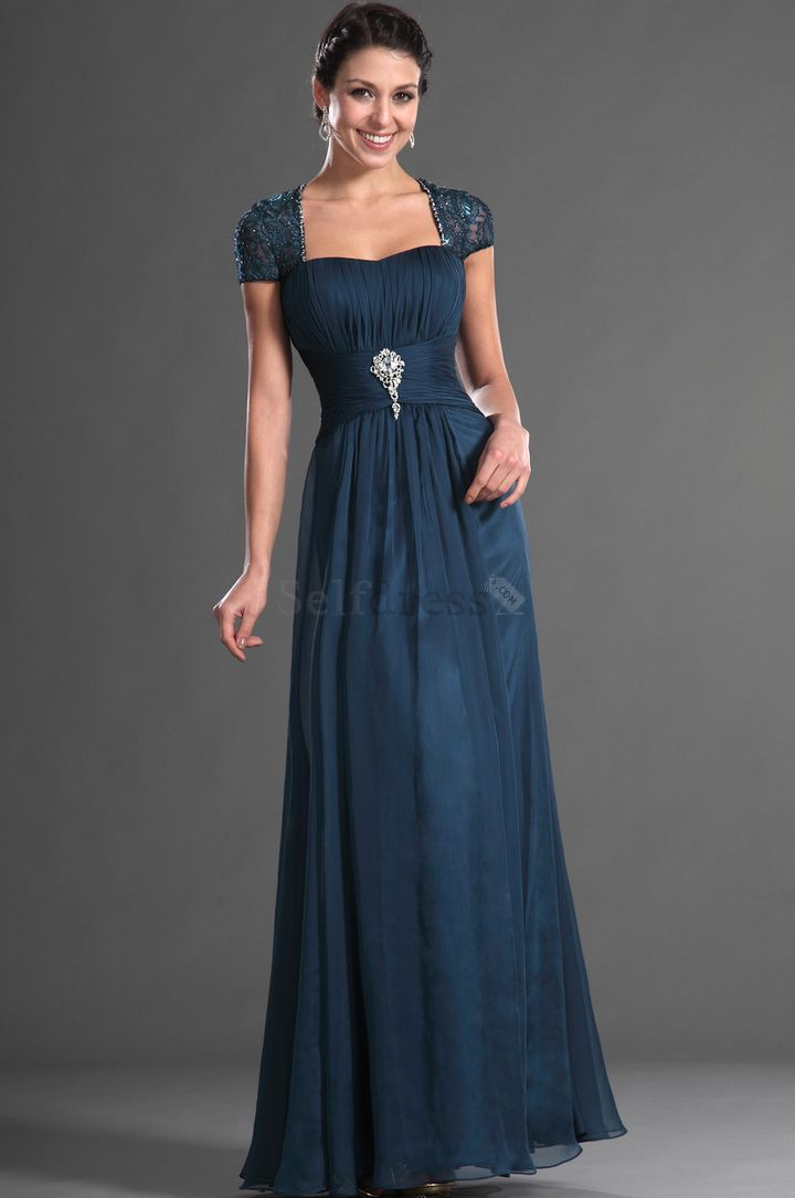 mother of the bride dresses navy | ... Navy Art Silk Short Sleeves Pleated Misses Chiffon Mother Of The Bride