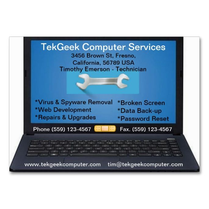 425 best computer business card templates images on pinterest computer repair services business card reheart Images