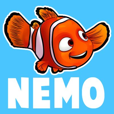 How To Draw Nemo From Disney S Finding Nemo With Easy Step