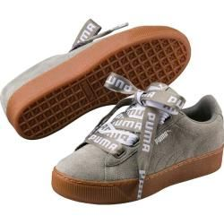 Puma Damen Sneaker Vikky Platform Ribbon Bold, Größe 37 ½ in Grün PumaPuma