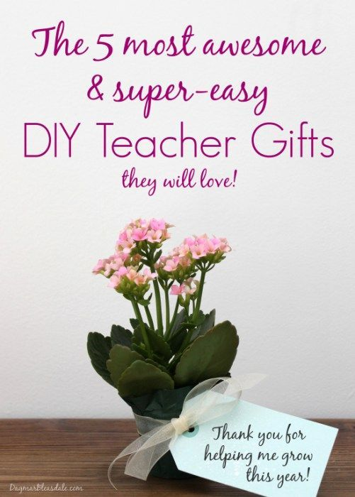 The 5 Most Awesome & Easy DIY Teacher Gift Ideas