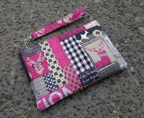 How to Make Quilted Patchwork Panels for a Structured Bag - Free Tutorial by Elizabeth Hartman