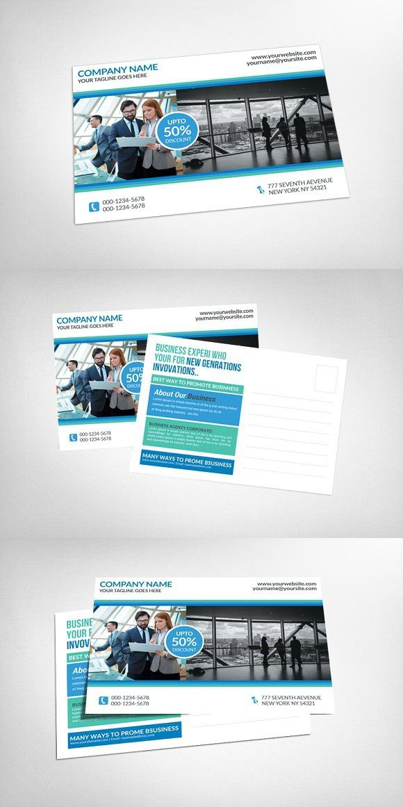 Corporate Business Postcard Template Advert Card Design Templates