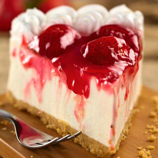 cheesecake φράουλα με ανθότυρο νόστιμο και γρήγορο!